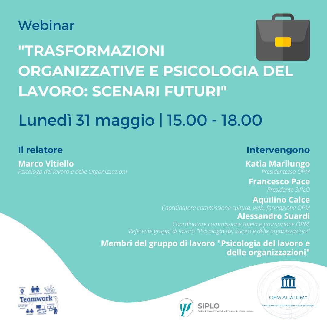 Marco Vitiello, membro del direttivo SIPLO, presenta i cambiamenti nei modelli di ricerca-intervento dei principali processi aziendali