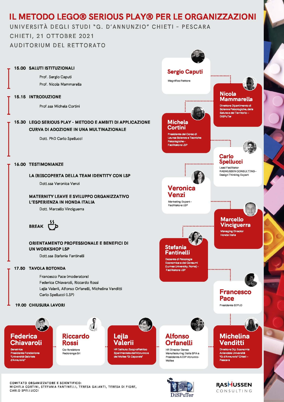 Francesco Pace, presidente SIPLO, modera la tavola rotonda sul metodo LEGO® SERIOUS PLAY®.