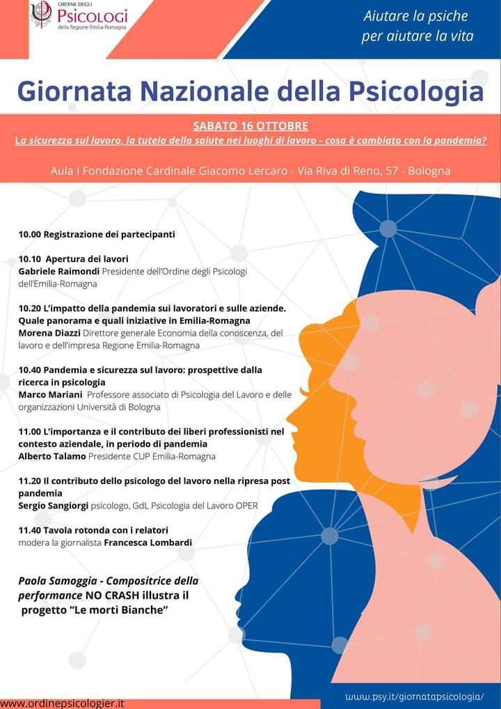 Marco Mariani e Sergio Sangiorgi, soci SIPLO, partecipano come relatori alla Giornata Nazionale della Psicologia.